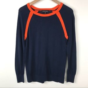 41 Hawthorn Blue Orange Sweater Medium Stitch Fix